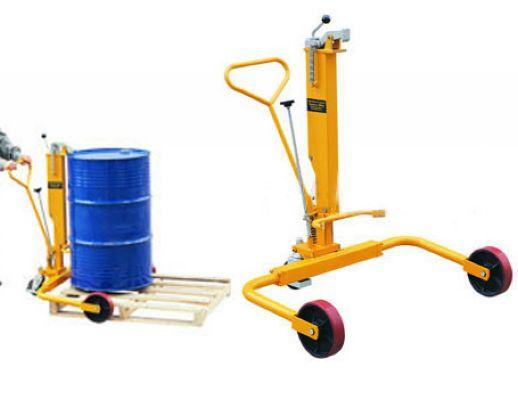 三轮液压油桶搬运车